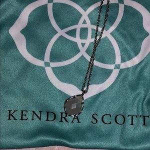 Kendra Scott, light pink and gold necklace